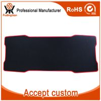 Custom Ergonomic Natural Rubber Black Big Gaming Mouse Pad