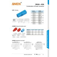 Anne 45A 600V Battery Connector UL/CUL/RoHS/CE/SGS Certificated
