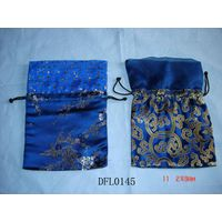 Brocade jewelry pouch