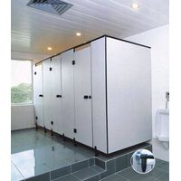 Top Quality Compact Laminate Toilet Cubicles / Stainless Steel Toilet Partition