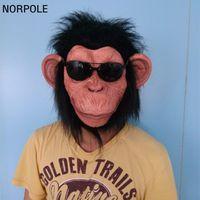 X-MERRY Chimp Monkey Mask Gorilla Ape Bruno Mars Lazy Song Animal Primate Fancy Dress