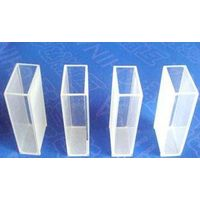 transparent quartz glass cuvette with two sides transparent