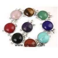 30mm multicolor gemstone jewelry clasps
