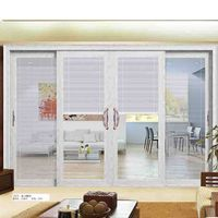 aluminium extrusions patio sliding door with double wrought glass