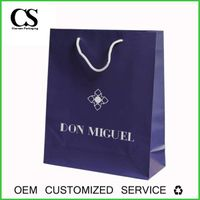 Lamination custom printed packaging cosmetic paper bag