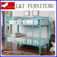 T/T blue iron bunk bed for USA market