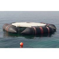 Rubber airbag for marine floating structures