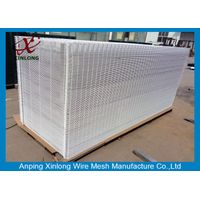 Supermarket Pure White 20055mm Economy 3D Wire Mesh Fence