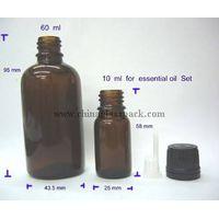 moulded glass bottle(glass bottles for syrups DIN Pp 28mm) thumbnail image