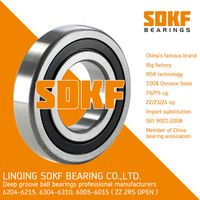 6304-2RS-ZZ Radial Bearing 20x52x15 Shielded Seal Ball Bearings SDKF Brand