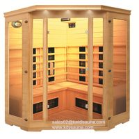 Home indoor solid wood corner far infrared sauna room