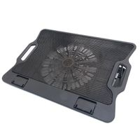 NCP86 Ultra-slim Electric Laptop Cooling Pad With Two LED Fans adjustable laptop stand