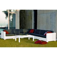 FCO-2613rattan/wicker outdoor furniture sofa set white rattan
