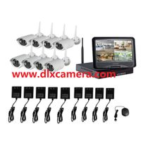 8ch Plug And Play 10 Inch LCD Screen Wireless NVR Kit CCTV System 960P HD WIFI IP Camera Outdoor IR