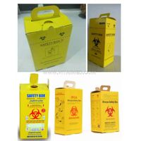 Medical Waste Collection Safety Boxes 5.0l Cardboard Sharps Container Medical Waste Safety Boxes thumbnail image