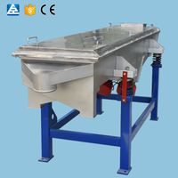 High screening efficiency linear vibrating silica sand separator machine