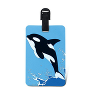 Killer whale PVC luaage tag for fast identification