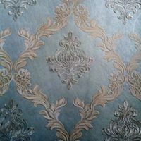 Natural Fibers Embroidery Wallpaper