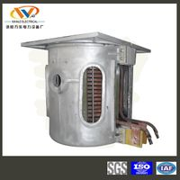 2 ton parallel connection induction iron melting furnace
