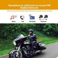 T-max Motorcycle Helmet Intercom for 6 Riders with FM Radio Moto Intercomunicador thumbnail image