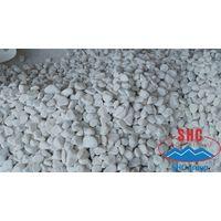 Crystal white pebble stone