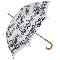 Custom Auto Open Straight Umbrella with Printed Music Note Logo