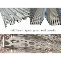 perforated lightweight aluminum curtain wall