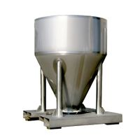 stainless steel chemical powder storage tank