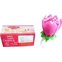 Lotus Candles birthday cake candle fireworks