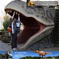 Amusement park life size dinosaur statue