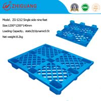 Heavy Duty Single Faced Plastic Pallet for Stacking