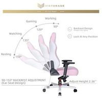 VICTORAGE Premium PU Leather Computer Gaming Chair Home Chair (Pink) thumbnail image