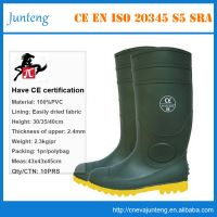 PVC boot gumboots safety work rain boots protective shoes for construction farming mining industry