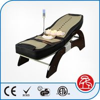 High Quality Wooden Electric Massage Table , Heating Function Jade Stone Thermal Massage Bed