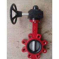 Wear gear operated lug butterfly valve