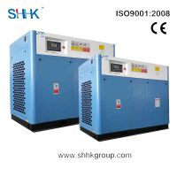 75kw stationary screw air compressor of rotary type