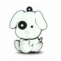 Lovely novelty dog style USB flash drive disks PVC