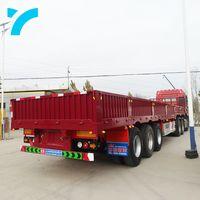 side wall semi trailer flat bed semi trailer
