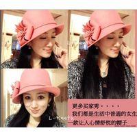 pink ladies lovely wool felt hat