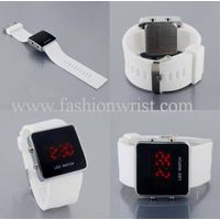 Fashion Silicone Red led light sports watch-LW202 thumbnail image