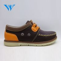 High quality wholesale custom boys casual shoes kids PU leather loafers