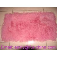 Dyed Single Color Mongolian Fur Plates