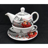 Customized Design tea cup and pot set