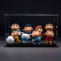 Custom Size Clear Acrylic Toy Display Box Self-assemble Plexiglass Dustproof Storage Case