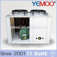 YEMOO box type industrial chiller with U type air cooled condenser and 8 hp Bitzer Copeland compress