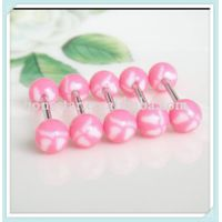 Cute footed pattern barbell tongue piercing jewelry