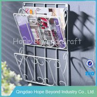Office furniture wrought iron magazine rack