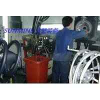 Automobile steering wheel foaming line