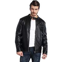 Wholesale Black Leather Battery Best Heated Jacket for Motorcycle in Winter