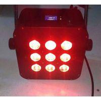 China factory 9X15W RGBAW+UV 6in1 slim led par64,wedding decoration light